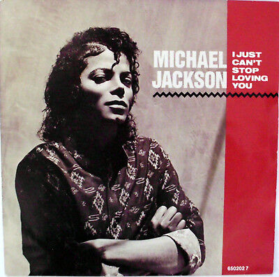 """MICHAEL JACKSON: """" I Just Can't Stop Loving You """" 1987 NL"""