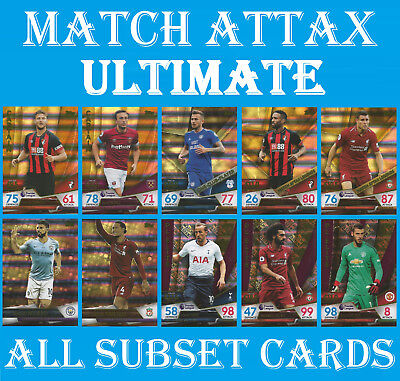 Match Attax ULTIMATE 2018/19  CAPTAIN / PL ELITE / ONE CLUB / LEGENDS / SKETCH