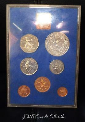 1977 Royal Mint Great Britain Proof Coin Set - No Cardboard Case