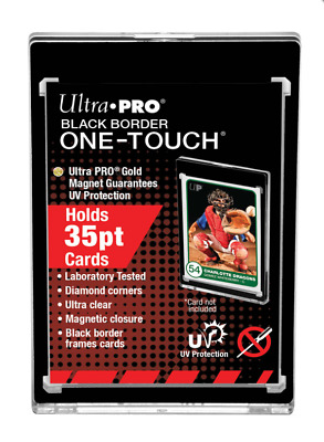 Ultra Pro BLACK BORDER One Touch Magnetic Trading Card Holder 35pt Standard Size