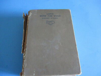 Vintage GONE WITH THE WIND by Margaret Mitchell 1937 Edition