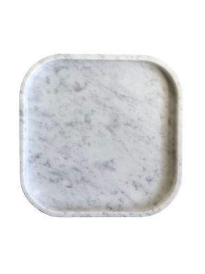 MARBLE SQUIRCLE TRAY | White