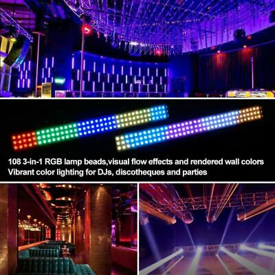 RGB 108 LED Wall Wash Bar Light DJ Club Wedding Xmas Party Disco Stage Light