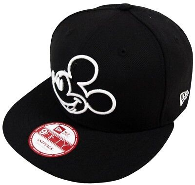 New Era Mickey Mouse Ou Black Gorra Snapback 9fifty M L Limitado Edición  Disney 6ef934cd6ff