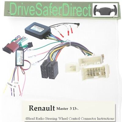 SWC-8417-10L Steering Control,LEARNING for Joying Radio/Renault Master 13-