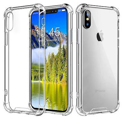For iPhone XS Max XR X 8 7 6S Plus Case Clear Bumper Cover Shockproof Protective
