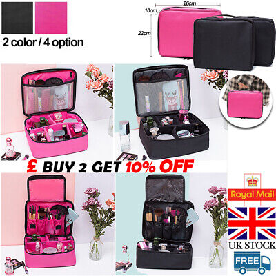Professional Large Makeup Bag Vanity Case Box Cosmetic Nail Tech Storage Beauty