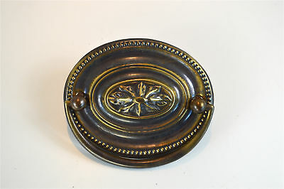 Quality brass vintage antique style oval furniture handle Georgian plate HG1