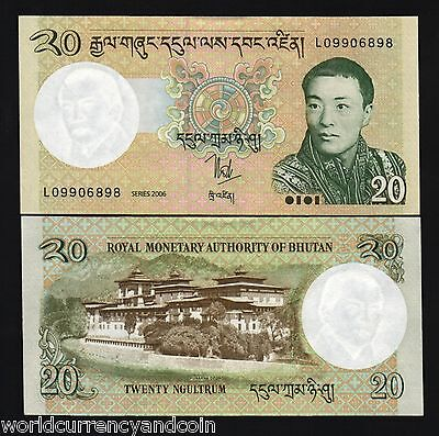 Bhutan 20 Ngultrum P30 2006 *bundle Lot New King Dzong Dragon Unc Money 100 Note