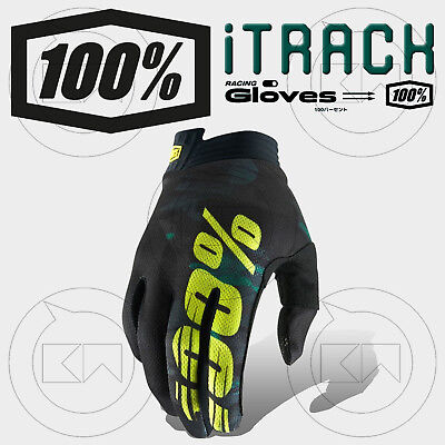 Guanti 100% Itrack Mx Camo Camouflage Adulto Motocross Enduro Off-Road Atv Mtb