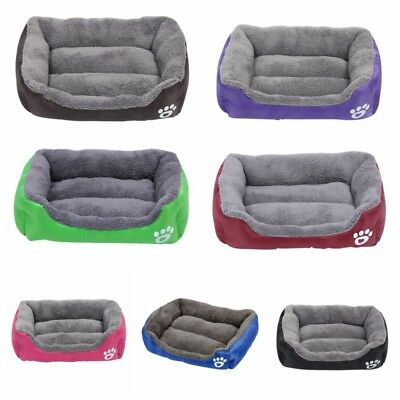 US Large Dog Pets Cat Waterproof Soft Warm Beds Doghouse Kennel Sleeping Bed Mat