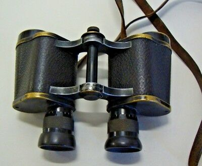 Pair of early 20th century Carl Zeiss Jena silvamar 8x binoculars No 394128