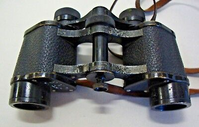 Pair of early 20th century Carl Zeiss Jena telexem 8x binoculars No 277484