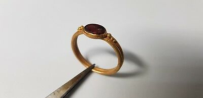 ROMAN GOLD RING WITH INTAGLIO EAGLE   2nd,3rd  Century AD