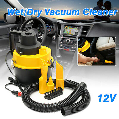 12V Wet Dry Vac Vacuum Cleaner Inflator Portable Turbo Hand Held for Car