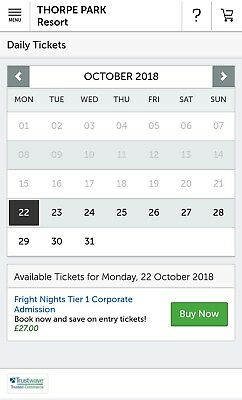 Thorpe Park Tickets 51% Discount Code Any Day Ticket £27 (Fright Night Included)