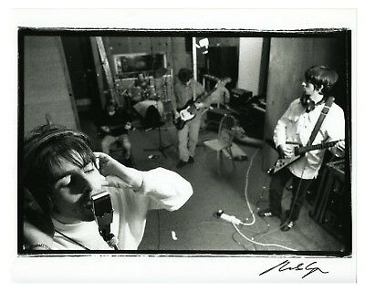 Oasis 1994 Definitely Maybe Print Signed By Photographer Michael Spencer Jones