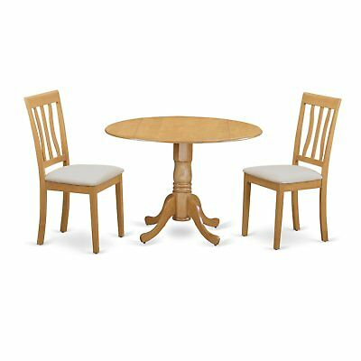 Kitchen Dinette 3-piece Dining Table and Chairs Set