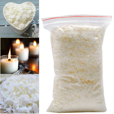 500g Soy Soya Wax 100/% Pure DIY Candle Making Wax Natural Flakes Clean Burning