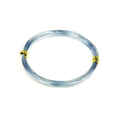 1 x Pale Blue Plated Aluminium 0.8mm x 10m Round Craft Wire Coil HA16025
