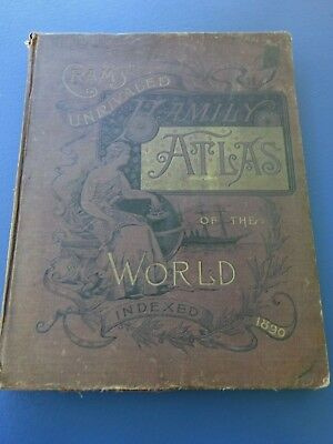 1890 Crams Unrivaled Family Atlas of the World, 272 Pages