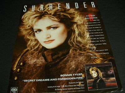 BONNIE TYLER Surrender it's your only choice.... 1986 PROMO POSTER AD