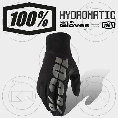 Guanti 100% Hydromatic Waterproof Mx Black Adulto Motocross Enduro Off-Road Mtb