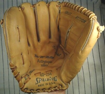 "Rare & soft Ken McMullen USA Spalding 42-256 LH 11"" baseball glove Dodgers Wash"
