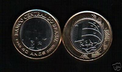 NEW ISSUE 5 DIF UNC COINS SET 0.05-1 REAL 2018 YEAR BIMETAL BRAZIL