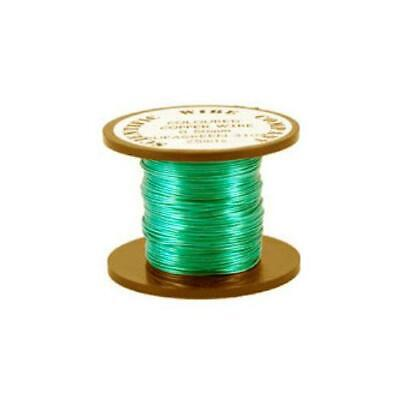 1 x Turquoise Plated Copper 0.5mm x 15m Round Craft Wire Coil W5104