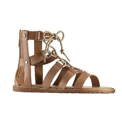 Sorel Ladies Ella Lace Up Sandals - New Leather Open Toe Summer Gladiator Shoes