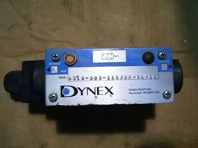 New Dynex /rivett 6510-D03-115/df-Sf-Sl-10 2 Post Hydraulic Dir Ctrl Valve P2725