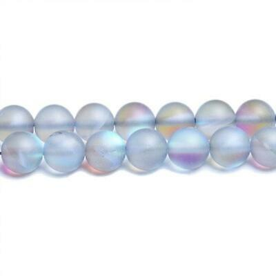 Strand 62+ Grey Glass 6mm Frosted Plain Round Beads CB31161-1