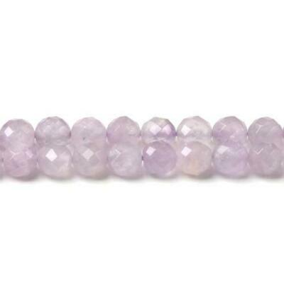 Cape Amethyst Faceted Round Beads 8mm Lilac 40+ Pcs Gemstones Jewellery Making