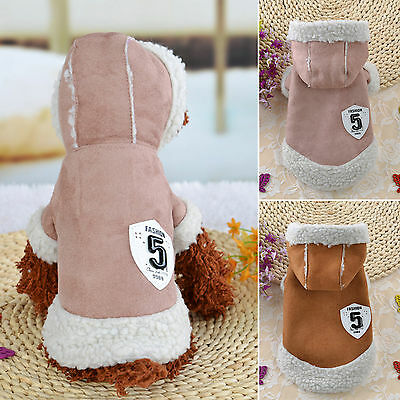 Chihuahua Teddy Dog Puppy Small Pets Hoodie Jacket Sweater Coat Clothes Costume