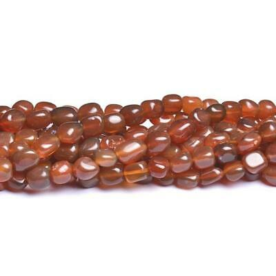 Carnelian Smooth Nugget Beads 7-9mm Red 40+ Pcs Gemstones DIY Jewellery Making