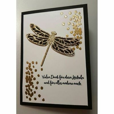 DIY Metal Dragonfly Cutting Die Stencils Clear Stamps For Scrapbooking Xmas