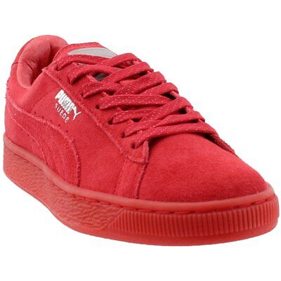 Puma Suede Classic Mono Reflected Iced Sneakers- Red- Womens