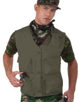 Combat Hero Costume Vest Adult: Solid Green One Size Fits Most