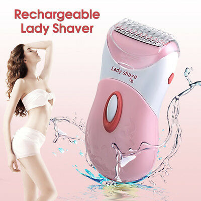 Washable Wet/Dry Rechargeable Electric Women Lady Shaver Trimmer Hair Removal !
