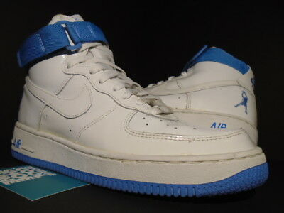 info for a0ae2 60881 2003 Nike Air Force 1 Sheed Rasheed Wallace Patent White University Blue 8