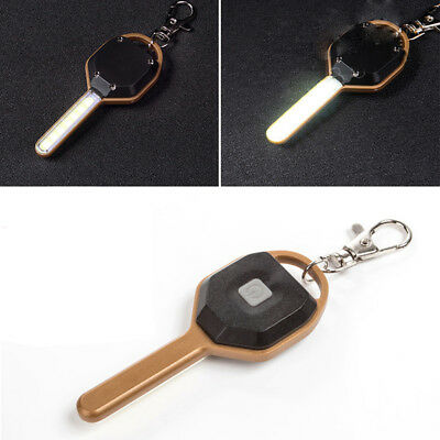 Mini COB LED Camping Flashlight Light Key Shape Keychain Torch Lamp Gracious NJ