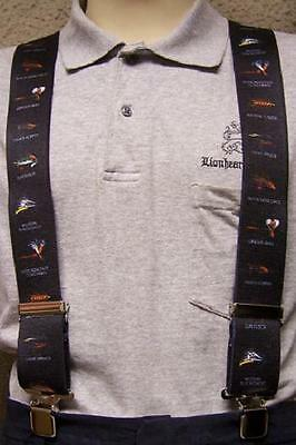 """Suspenders 2/""""x48/"""" FULLY Elastic Computer Components NEW Blue"""
