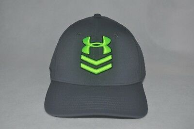 2ce1bbbbc91 New Under Armour Men s UA Undeniable Flat Brim Stretch Fit  1254125 Cap Hat  ...