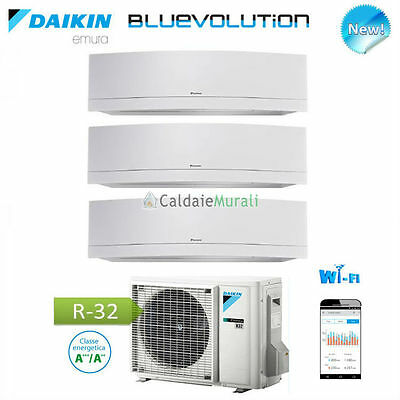 Conditionneur D'Air Daikin Trial Série Emura Blanc Wifi Bluevolution 9 +9 +12 +