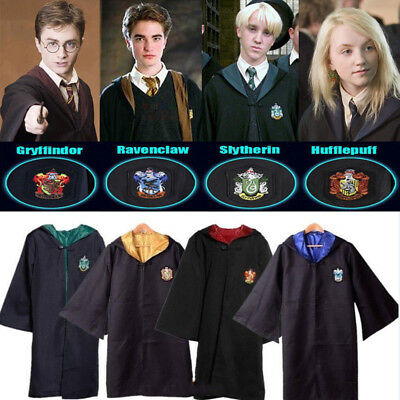 Adult/Kids Wizard Costume Harry Potter Cloak Robe Cape Halloween Cosplay Outfit&