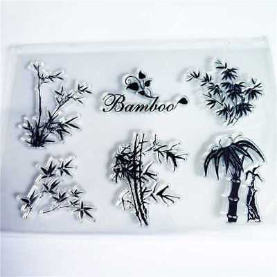 Bamboo Transparent Silicone Rubber Clear Stamps Scrapbooking Embossing DIY Craft