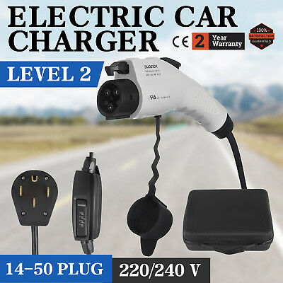 Universal Electric Car Charger 14-50 Plug Level 2 220V EV 240V EVSE 23 feet