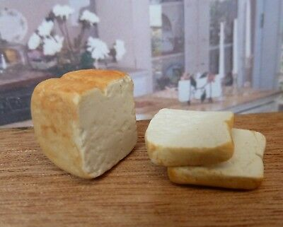 Dolls House Miniature Food Handmade * Sliced Bread Loaf * Combined P+P