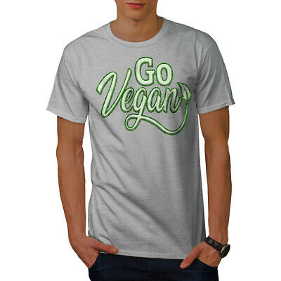 wellcoda Go Vegan Mens Sweatshirt Vegetarian Green Casual Jumper